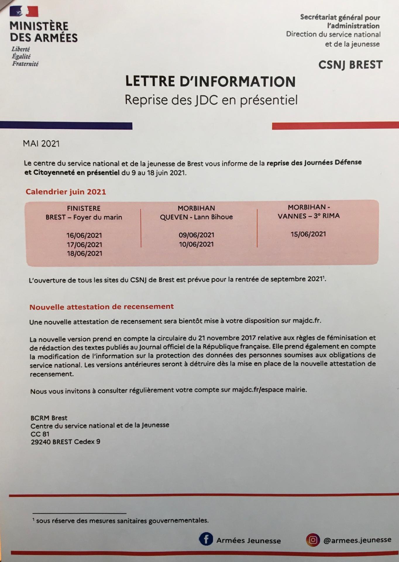 Ministere des armees mai 2021